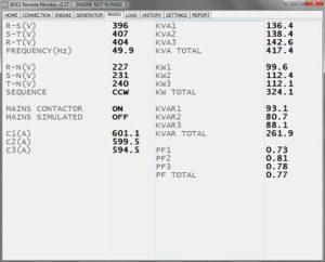 AMF controller mains monitoring