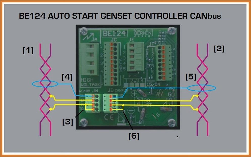 Auto Start Genset Controller CANbus MODBUS Connection
