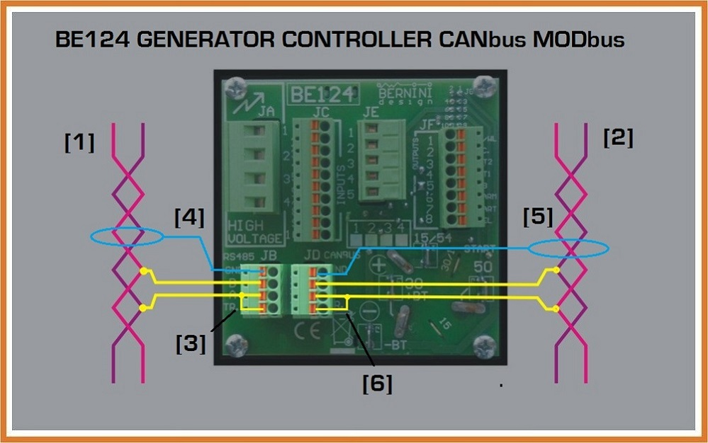 Automatic Genset Controller CANbus Connection