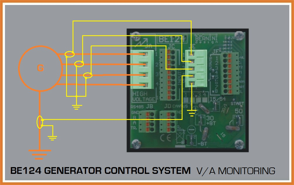 automatic Genset Controller Current Connections