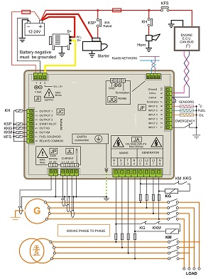 amf control panel circuit diagram