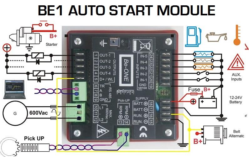 Generator Auto Start Module Connection Diagram