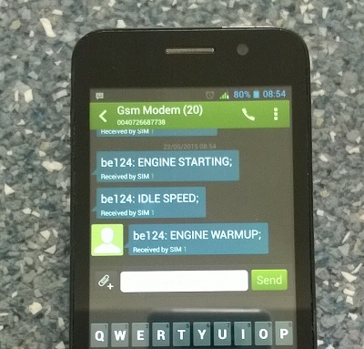 gsm based engine & genset controllers via SMS