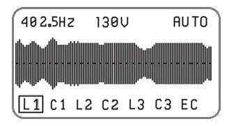GENSET CONTROLLER CURRENT OSCILLOSCOPE 400HZ