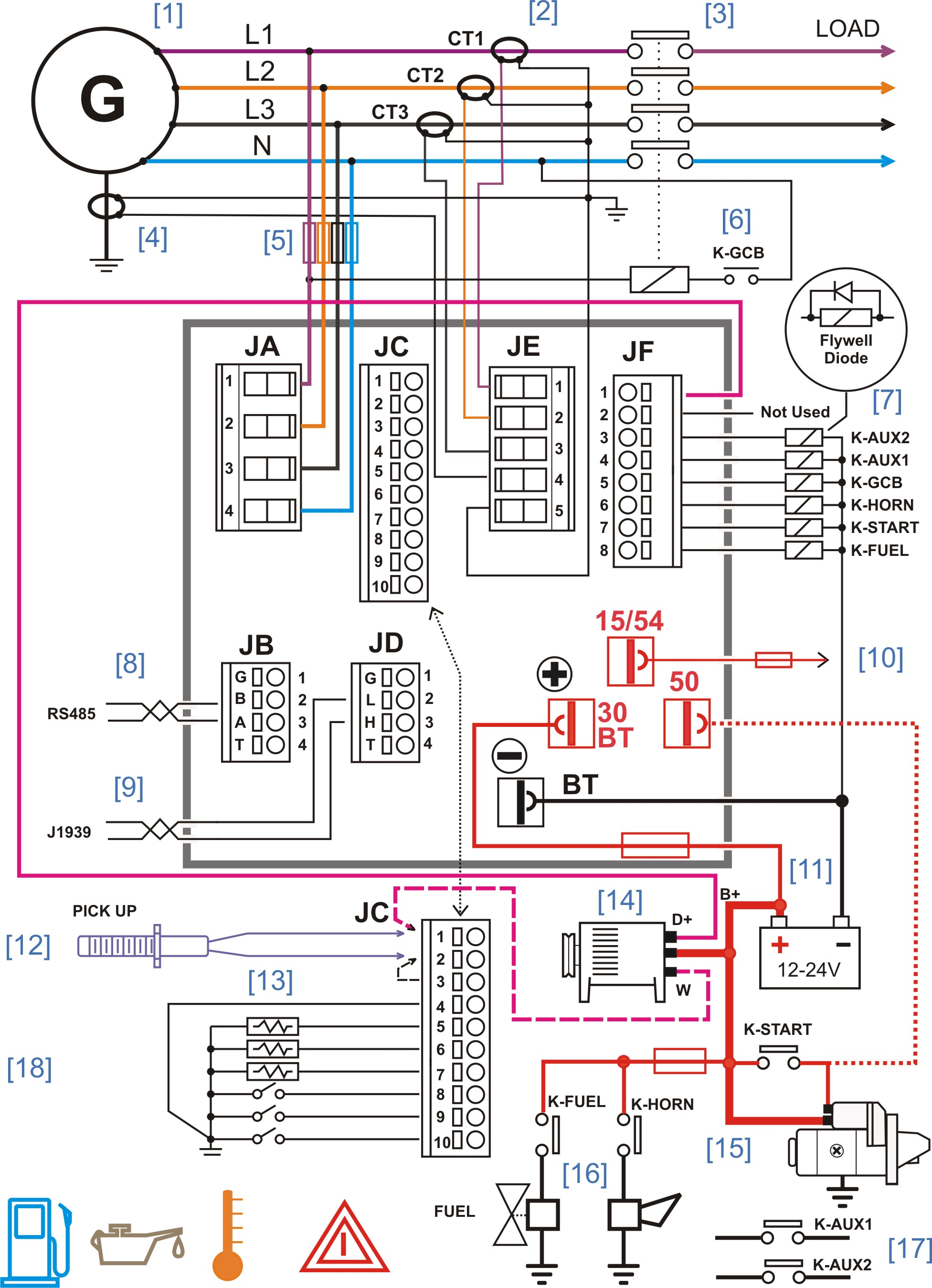 Control Wiring Diagram Detailed Schematics Vfd Schematic Generator Controller Genset Transformer