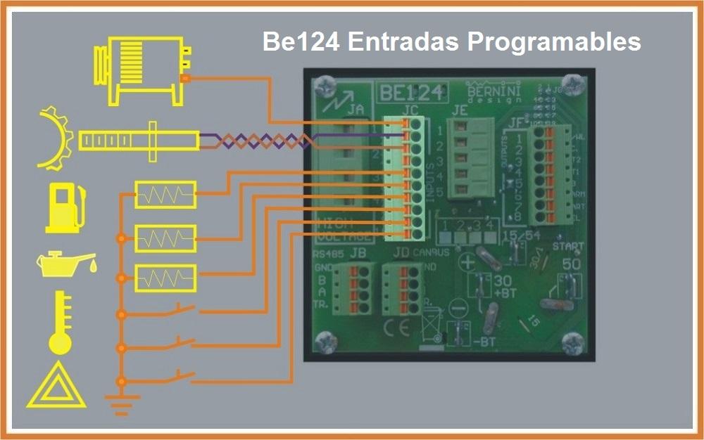 Entradas Programables módulo de control de arranque automatico