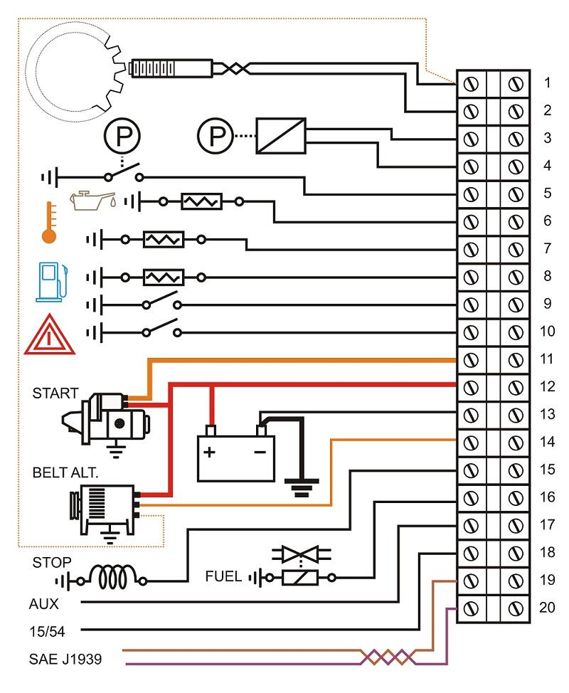 Collegamenti controllo automatico motopompe