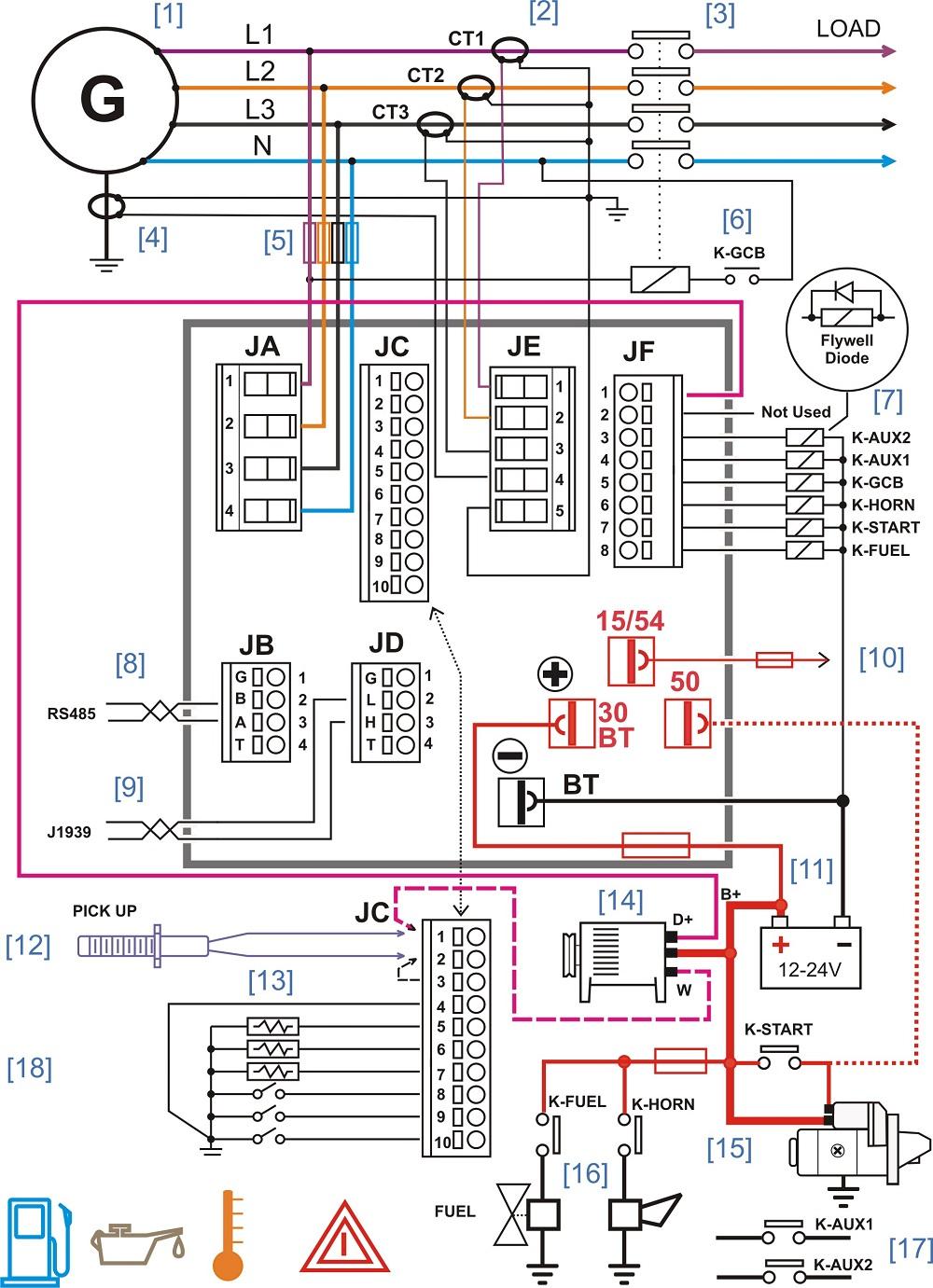 Schema Collegamento Gruppo Elettrogeno Generator Controllers