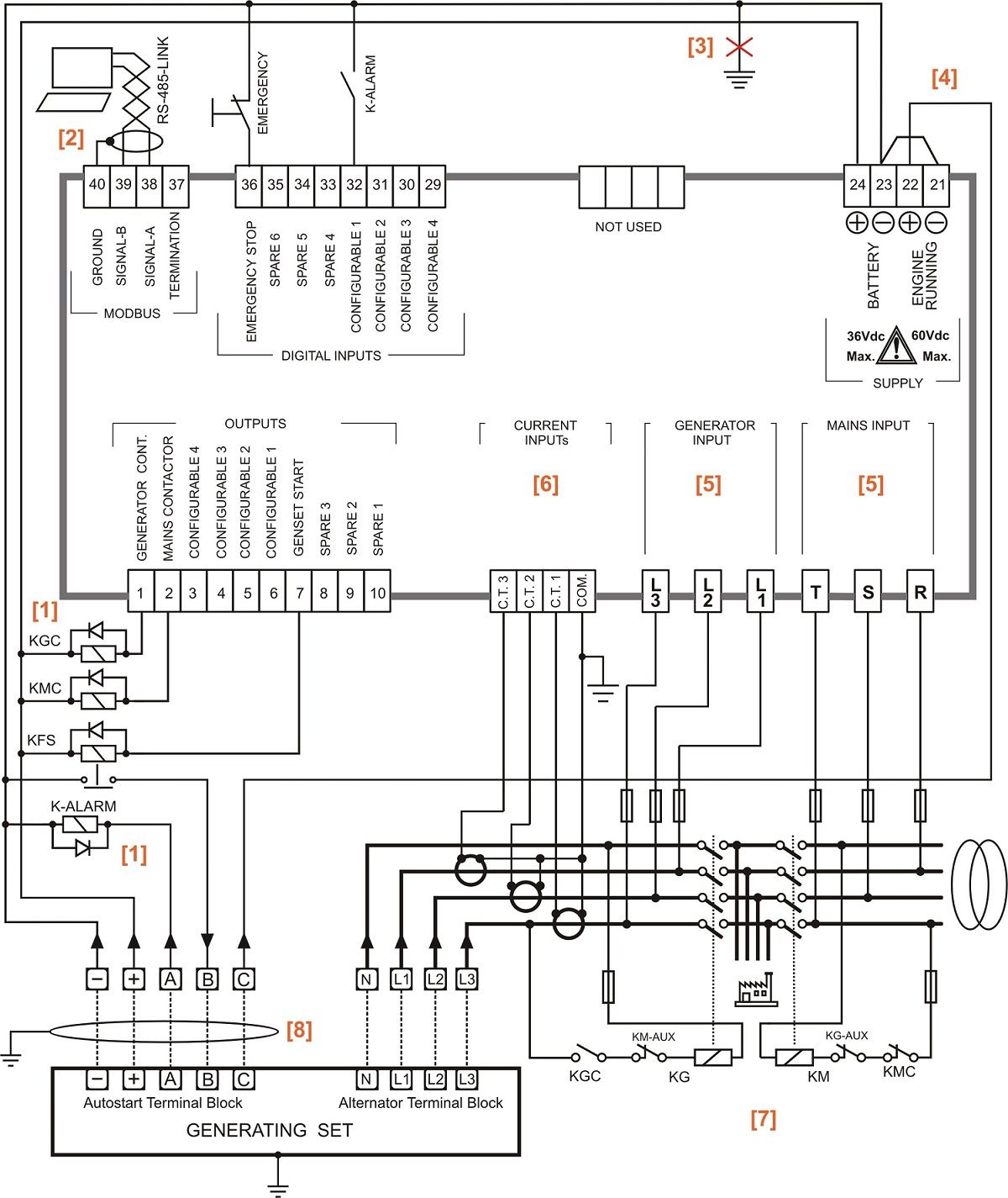 automatic changeover switch circuit diagram using contactors  u2013 automatismes pour groupes