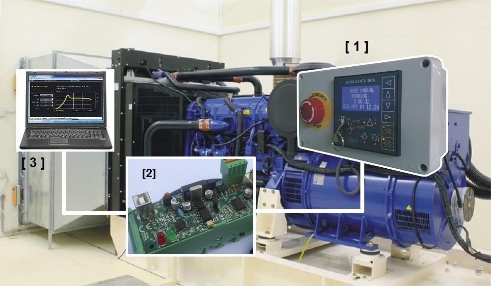 MODBUS diesel generator monitoring system
