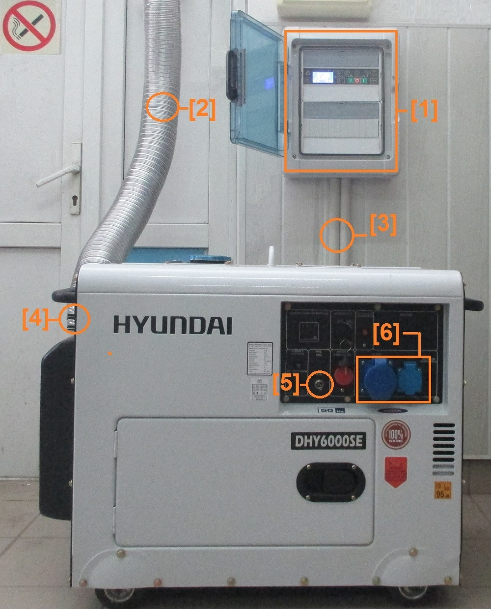 How to connect a Hyundai generator